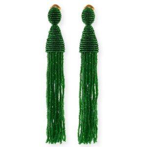 { Oscar de la Renta } Beaded Tassel Earrings